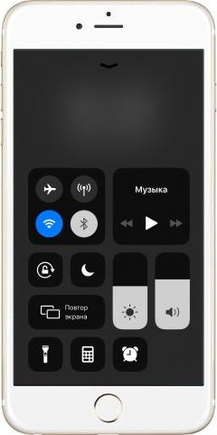 меню быстрого доступа в iPhone